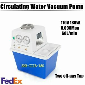 Anti corrosion Circulating Water Vacuum Pump With 2 Taps For Lab shx iiib 180