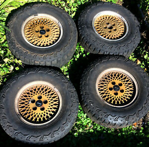 1996 Jeep Grand Cherokee Snowflake Gold Rims Thunderer Tires 30 X 9 50 R15lt