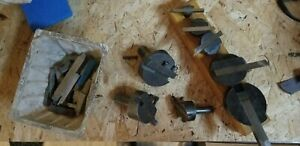 5 Pc Fly Cutter Set 1 2 5 8 Shanks With Wood Holder Lots Of Extras Look
