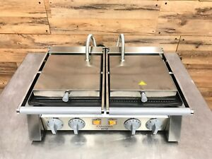 Electrolux Double Commercial Sandwich Panini Press W 20 Cast Iron Grooved Plat