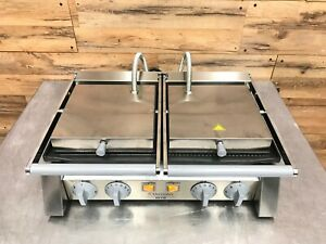 Electrolux 602113 Double Commercial Panini Press W Cast Iron Grooved Plates