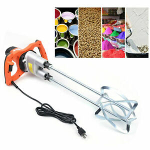 1800w Electric Plaster Cement Adhesive Render Paint Drywall Mortar Mixer Tool