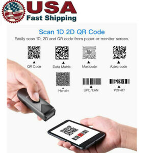 Eyoyo Mini Bluetooth Barcode Scanner 1d 2d Qr Pdf417 Data Matrix Image Reader