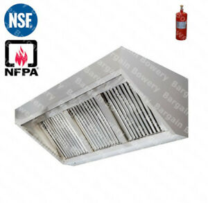 7 X 30 7 Ft Commercial Restaurant Kitchen Food Truck Exhaust Hood Fire System