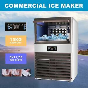 Stainless Steel Commercial Ice Maker Built in Countertop Freestand 160lbs 24hr