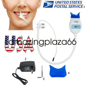 Portable Dental Teeth Whitening Cold Led Lamp Bleaching Accelerator 24w12v 2a Us