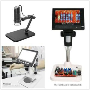 1000x Microscope 4 3 Lcd Display 720p 1080p 8 Led Digital Magnifier Holder Set
