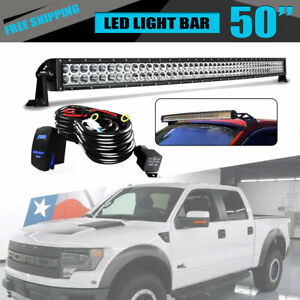 50inch Roof 288w Light Led Bar Combo Spot Flood Fog For Truck Ford Ute C1h