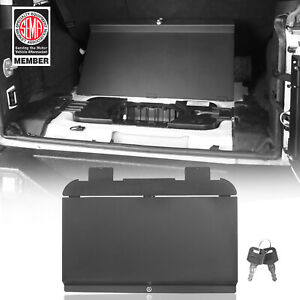 For Jeep Wrangler Jk 11 18 Interior Storage Locking Cubby Cover Steel 4 Door