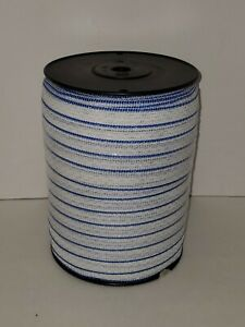 Electric Fence Polytape Blue white 1 X 660 Spliced