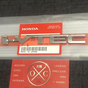 Oem Honda I vtec Emblem Badge Rare Civic Si Type R Accord K20 K24 Jdm New Ivtec