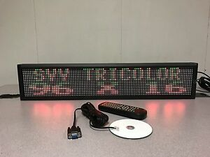 Double Line Indoor Tricolor Led Programmable Display full Package 30 x6