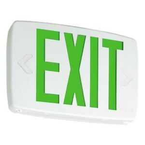 Lot Of 5 Lithonia Lighting Quantum Thermoplastic Led Emergency Exit Sign