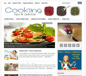Cooking Tips Turnkey Website Business For Sale W Automatic Content Updates