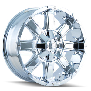 4 new 20 Mayhem Chaos Wheels 20x9 5x5 5 5x139 7 12 Chrome Rims