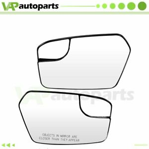 Fits 11 12 Ford Fusion Chrome Flat convex Mirror W blind Spot Wide Angle Glass