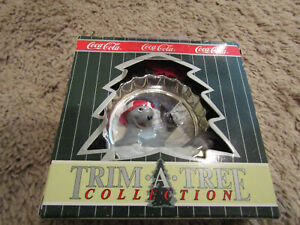 Coca Cola Trim A Tree Collection Ornament 1997 Polar Bear from target