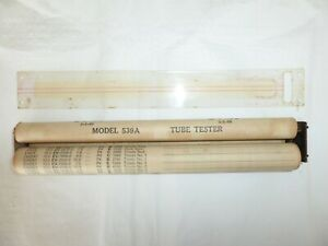Hickok 539a Mutual Conductance Tube Tester Roll Chart Assembly