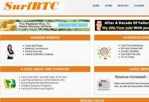 Featured Ad On Surfbtc xyz 25000 Views Plus 50000 Banner Impressions Free
