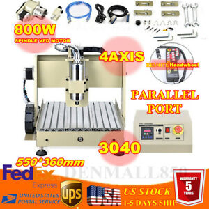 4 Axis Cnc 3040 Router Engraver Wood Carving Milling Machine 800w Controller Rc