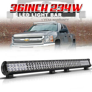 36inch 234w Led Light Bar Spot Flood Dual Row Offroad Driving Lamps For 4x4 Car