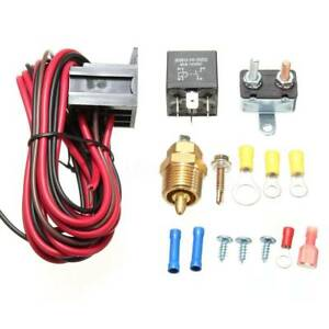 210 195 Electric Radiator Engine Fan Thermostat Temperature Switch Relay Kit New