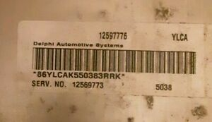 Chevy Ecm Pcm Gmc Engine Computer Oem 12569773 Programming Needed
