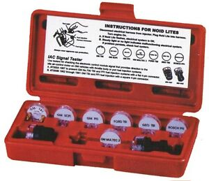 Deluxe Noid Light Set 9 Piece Electronic Fuel Injection Tester Kit With Case