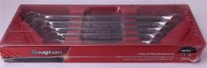 Snap on Tools Usa Sae 10 Offset Double Box End Chrome Wrench Set Xb605a