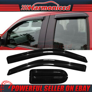 Fits 04 14 Ford F150 Supercab Extended Cab Acrylic Window Visors 4pc Set