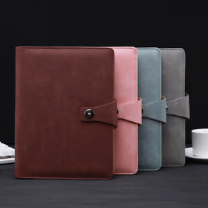 2x a5 Agenda Loose Leaf Ring Binder Leather Inserts Notebook Planner H5x1