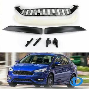 2015 2016 Black Front Bumper Lower Grill Center Cover W Lips For Ford Focus