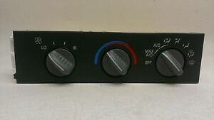 Chevy Gmc Van Oem Heater A C Control Unit Temperature Climate Switch 99 01 02