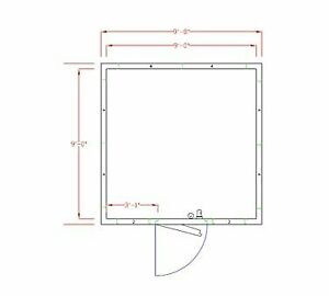 American Panel 10x10c o 10 X 10 Outdoor Walk in Cooler Without Floor Remote