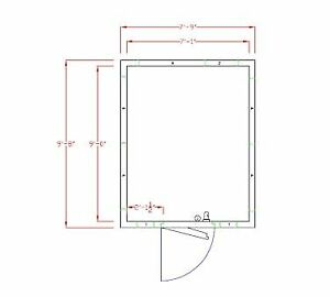 American Panel 8x10c o 8 X 10 Outdoor Walk in Cooler Without Floor Remote