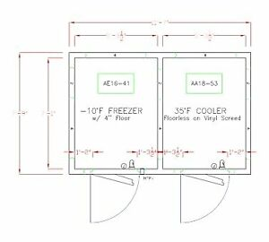 American Panel 8x12 i 139 Self contained Walk In Combination Cooler Freezer