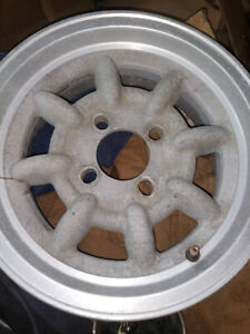 4 Rare Vintage Western Wheels 4x4 Bolt Circle13x5 5 From Monza Mirrage
