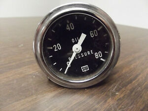 Vintage Stewart Warner Oil Pressure Gauge 0 100lb Psi 360 Hot Rod Racing