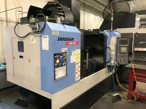 Used Doosan Dnm 500 Vmc Cnc Vertical Machining Center Mill Daewoo 4020 Ct40 2012