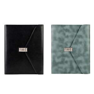 2x binder A4 File Folder With Lock Business Manager Password Briefcase L4l4