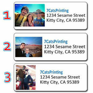 30 Custom Return Address Labels Personalized Any Photo Picture