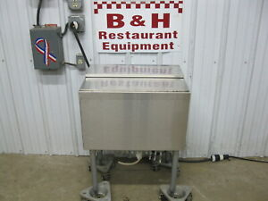 Lacrosse Piper 24 Stainless Steel Under Bar Ice Well Bin 8 Circuit Cold Plate