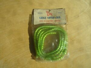 Vintage Superior Green Cable Cover Coil Speed Shop Accessory Hot Rod Rat
