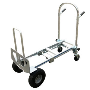 Foldable Aluminum Stair Climber Hand Truck Versatile Cargo Wheel Mover Truck Us