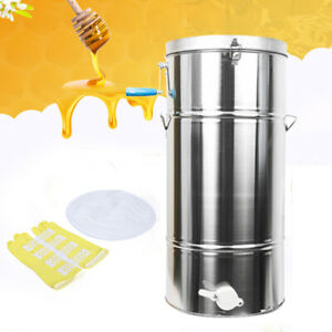 Stainless Steel 2 Frame Honey Extractor Beekeeping Equipment Thick Bearings Us