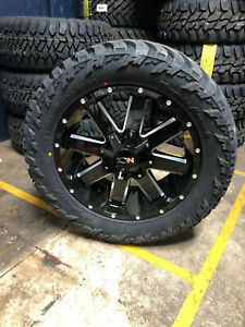 20x9 Ion 141 32 Mt Black Wheels Rims Tire Package 6x5 5 Chevy Suburban Tahoe