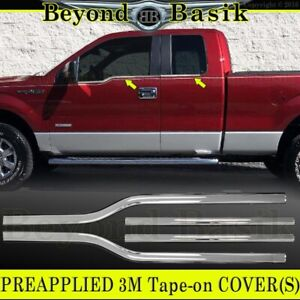 2004 2014 Ford F150 F 150 4dr Extended Super Cab Chrome Window Sill Trims Covers