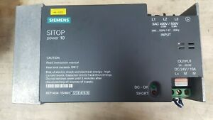 Siemens Sitop 10a Power Supply 6ep1434 1sh01 400 600vac Input 24 Vdc Output