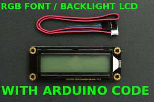 I2c 16x2 Arduino Lcd With Rgb Backlight Font Display Red Green Blue Code