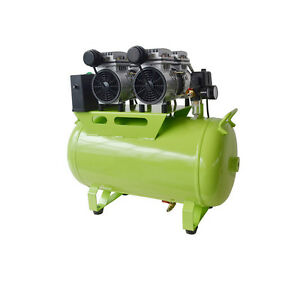 60l Dental Noiseless Oil Free Oilless Air Compressor Motors For 3 Chairs 1200w